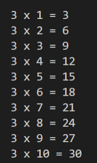 WAP to print the multiplication table of an integer given by the user